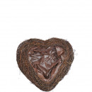 Heart Salim open, dimensions 20x25cm, nature